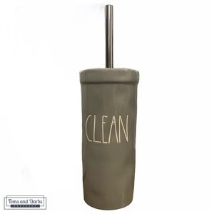 Rae Dunn CLEAN Toilet Brush and Holder in Grey